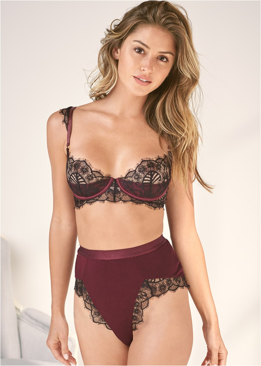Balconette Bra Set