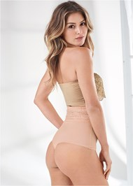 Cropped Back View 2 Pk High Waisted Thong