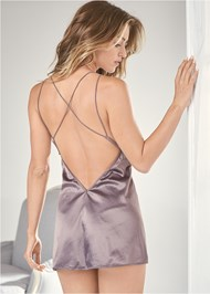 Back View Satin And Lace Babydoll