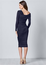Back View Drape Detail Bodycon Dress