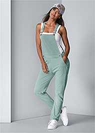 Full back view French Terry Overalls