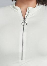 Alternate View Zipper Mock Neck Top