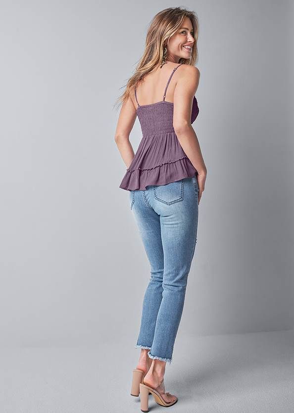 Back View Lace Detail Sleeveless Top