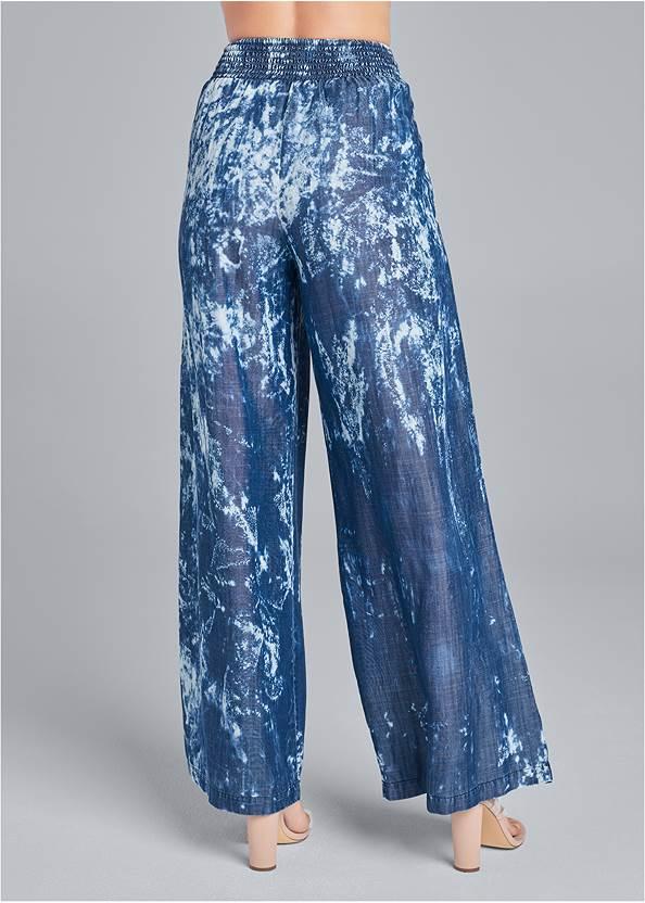 Waist down back view Tie Dye Chambray Pants