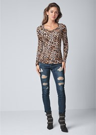 Full front view Side Lace Up Top