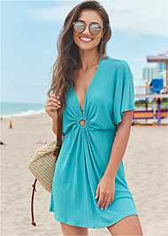 Full Front View Ring Front Dolman Cover-Up