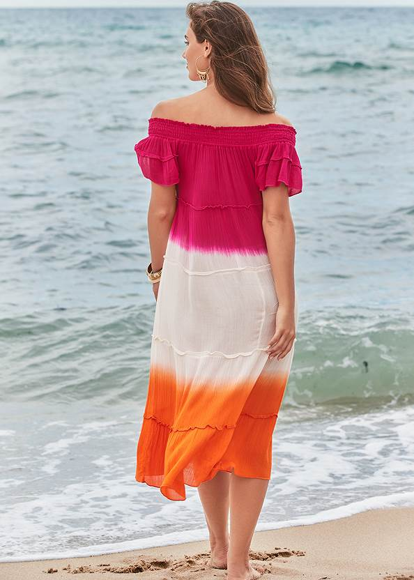 Back View Off-The-Shoulder Cover-Up