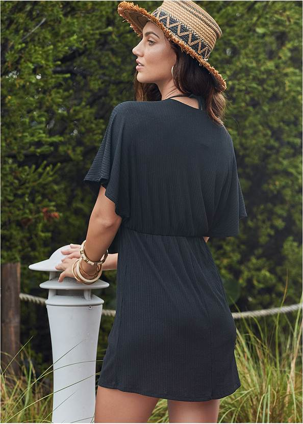 Back View Ring Front Dolman Cover-Up