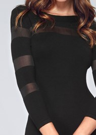 Alternate View Mesh Detail Sweater Dress