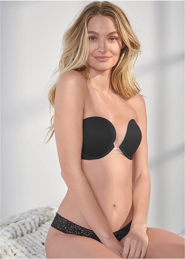 Cropped front view Strapless Bra
