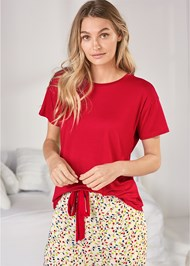 Cropped Front View Sleep T-Shirt