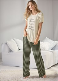 Full front view Sleep Pant Set