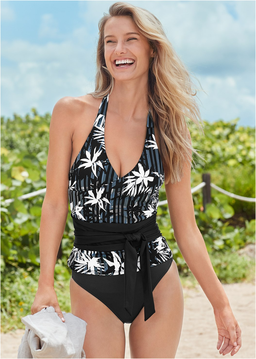 Sustainable Wrap Tankini Top,Mid Rise Hipster Classic Bikini Bottom,Sustainable Tie Side Bottom