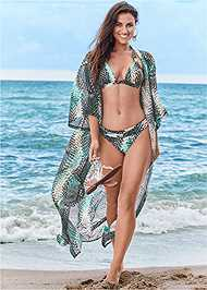 Front View Sheer Caftan Cover-Up