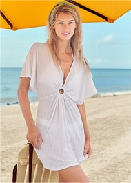 Front View Ring Front Dolman Cover-Up