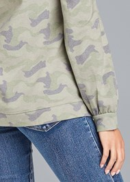 Alternate View Camo Balloon Sleeve Sweatshirt