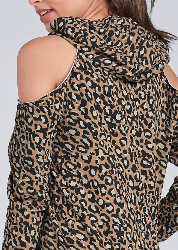 Detail back view Cold Shoulder Lounge Dress