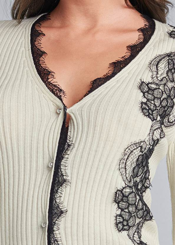 Alternate View Lace Detail Cardigan