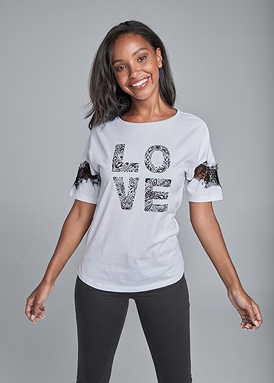 love graphic top