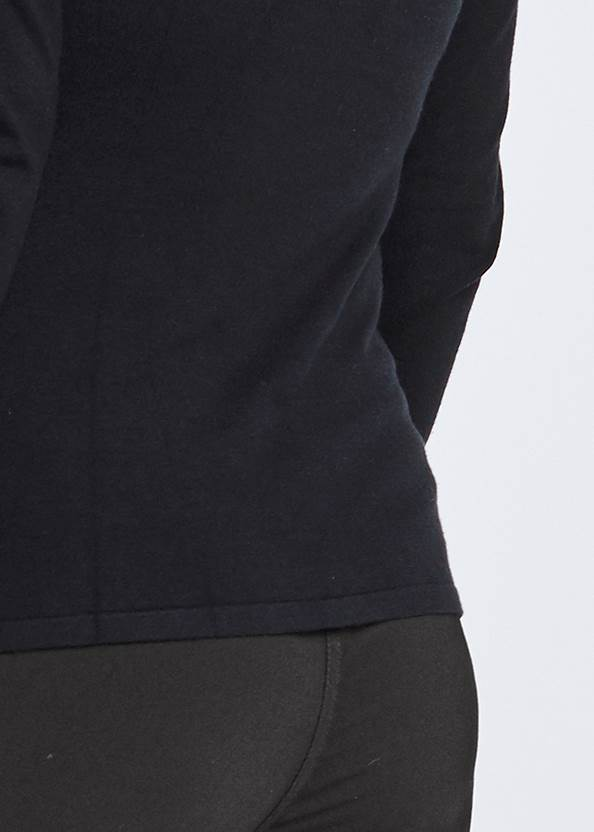 Cropped back view Mesh Detail Sweater
