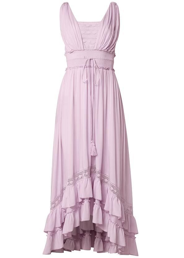 Alternate View Tiered Lace Trim Maxi Dress