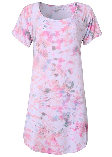 Plus Size Printed Sleep Shirt