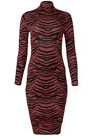 Ghost with background  view Long Sleeve Ruched Dress