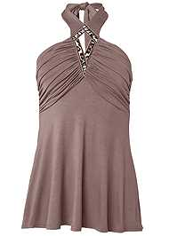 Ghost with background  view Embellished Halter Neck Top