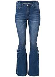 Ghost with background  view Lace Up Flare Jeans
