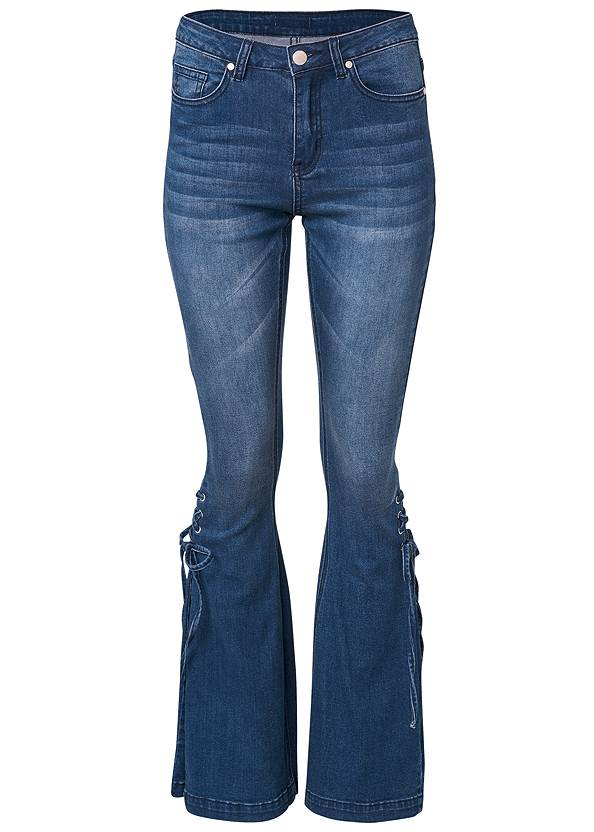 Ghost with background  view Lace-Up Flare Jeans