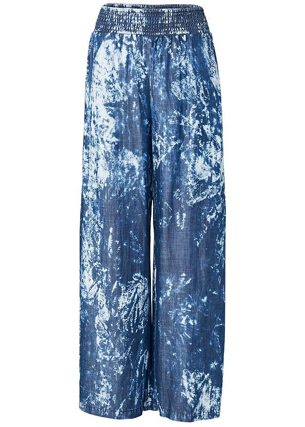 Ghost with background  view Tie Dye Chambray Pants
