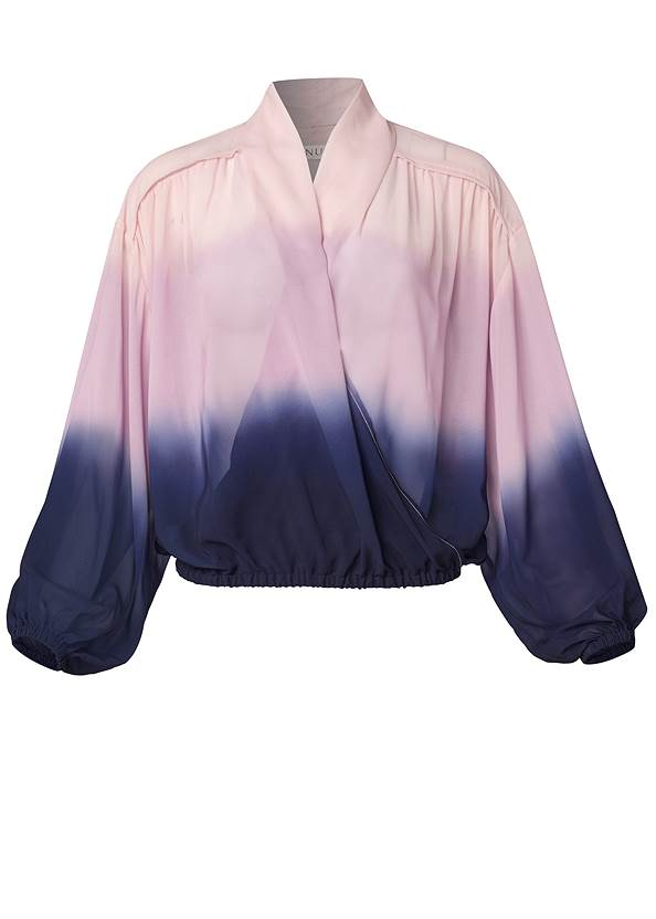 Ghost with background  view Ombre Casual Top