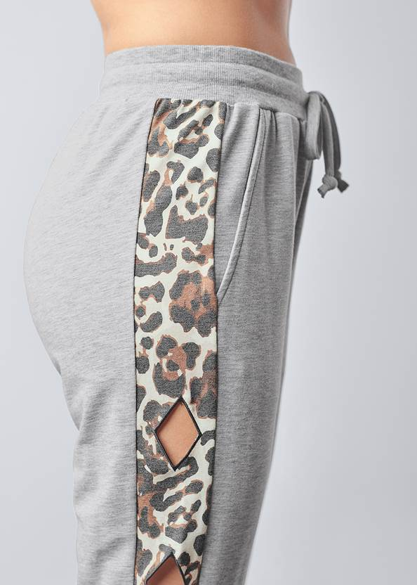 Alternate View Leopard Cut-Out Joggers
