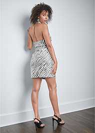 Back View Zebra Print Blazer Dress