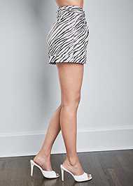 Alternate View Zebra Print Shorts
