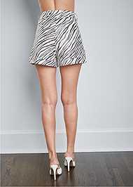 Back View Zebra Print Shorts