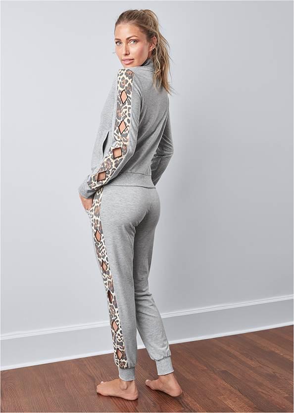 Back View Leopard Cut-Out Jacket
