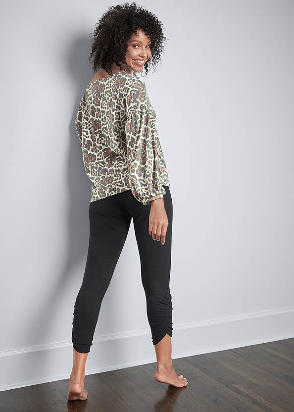Back View Balloon Sleeve Lounge Top