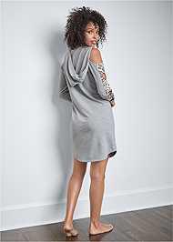 Back View Leopard Cut-Out Lounge Dress