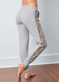 Back View Leopard Cut-Out Jogger