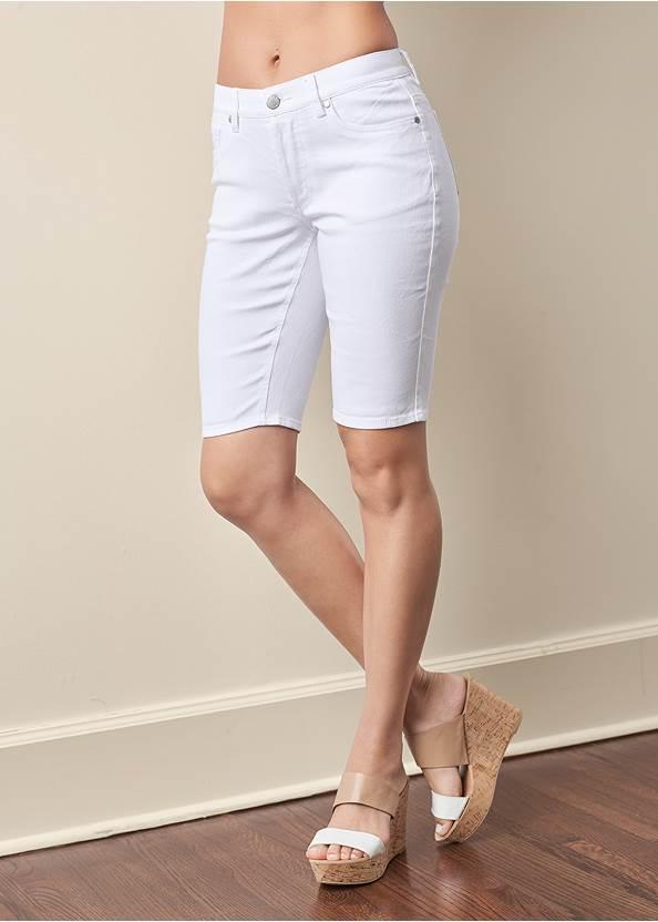 Front View Jean Bermuda Shorts