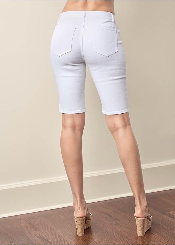 Back View Jean Bermuda Shorts