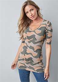 Alternate View Long And Lean V-Neck Tee