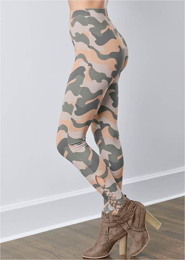 Alternate View Ankle Detail Leggings