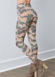 Waist down back view Ankle Detail Leggings