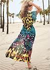 Back View Long Kimono Cover-Up