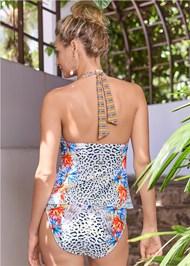 Back View Mid Rise Hipster Classic Bikini Bottom