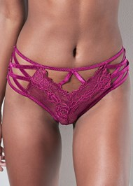 Detail front view Strappy Detail Lace Panty