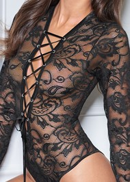 Alternate View Long Sleeve Lace Bodysuit