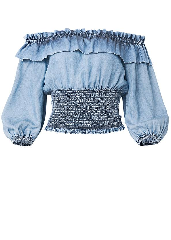 Ghost with background  view Off Shoulder Chambray Top